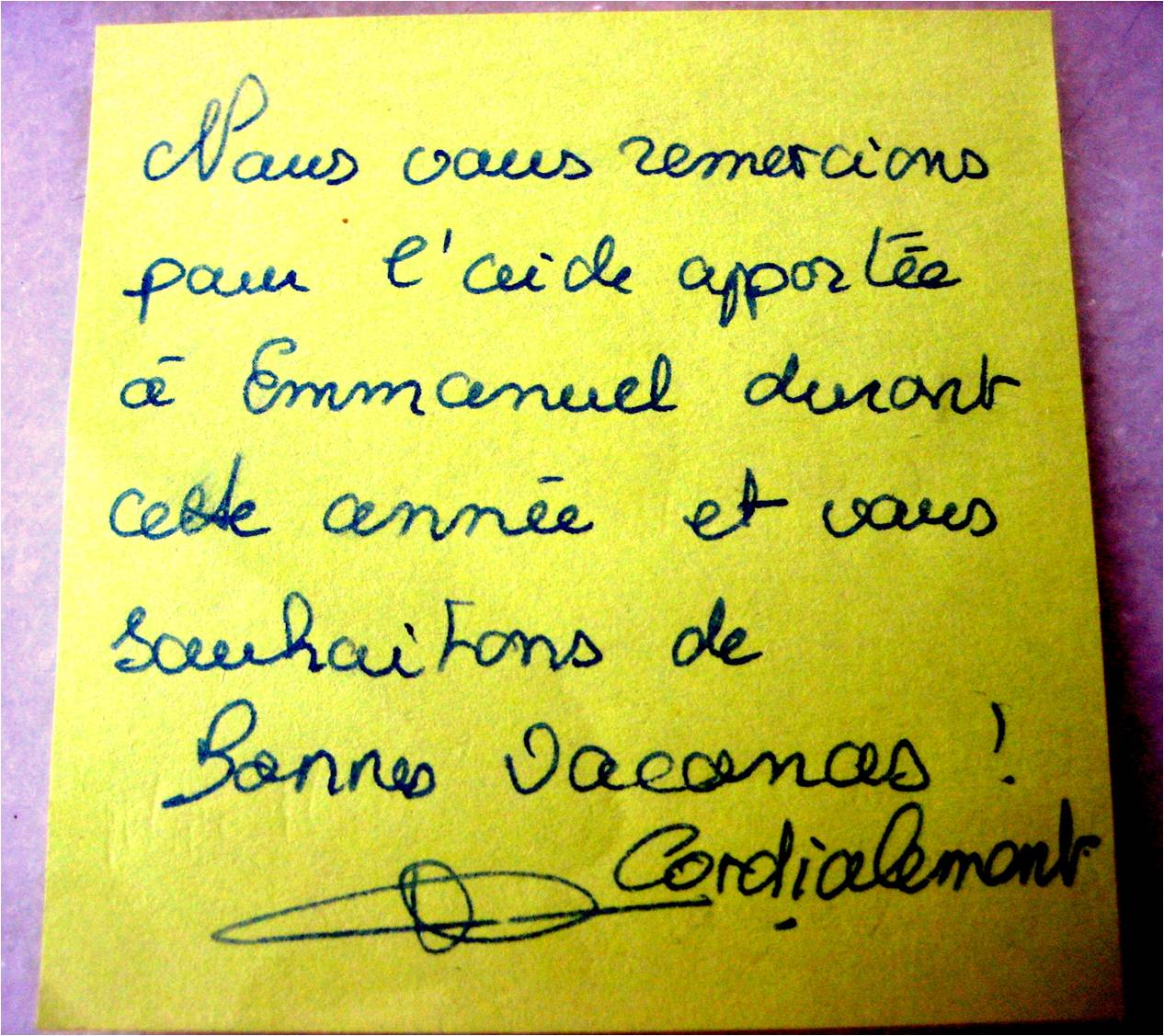 Remerciement-Emmanuel