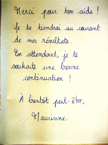 Remerciement_Maurinne